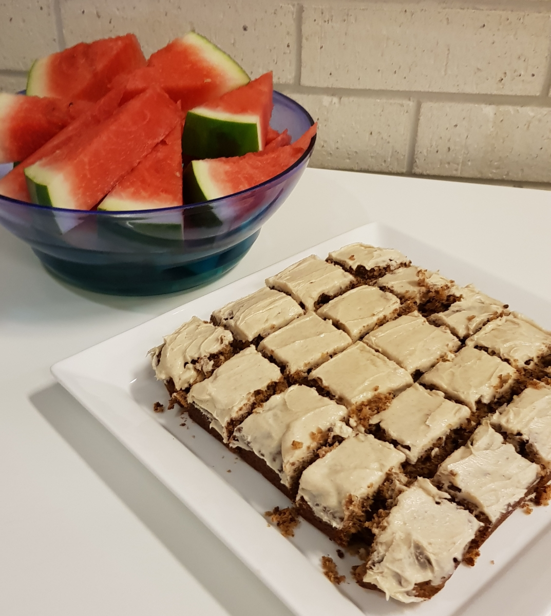 Maple, banana and cinnamon Weetbix slice